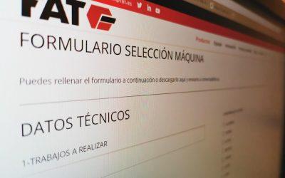 Cómo funciona el formulario de selección de máquinas FAT